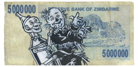 The Tin Woodsman and Scarecrow Dancing